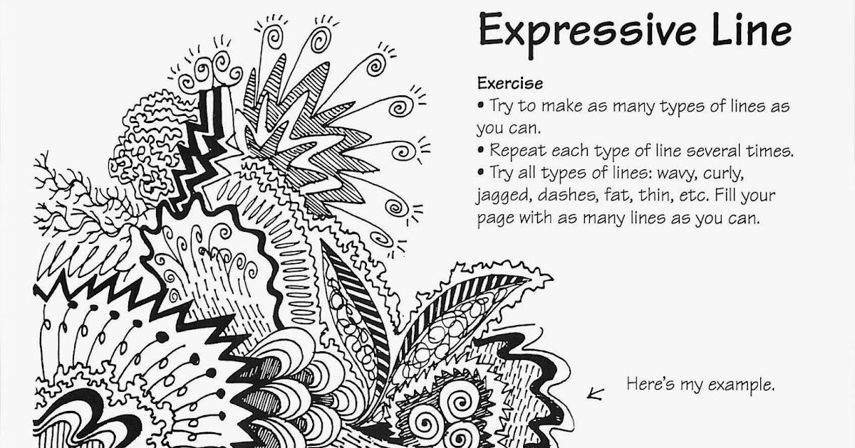 Line Drawing Artists Examples : No corner suns free expressive line handout and