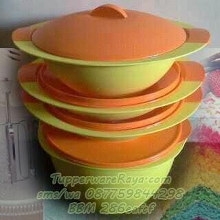 Tupperware Esklusif Sunrise Jumbo Dinning Set