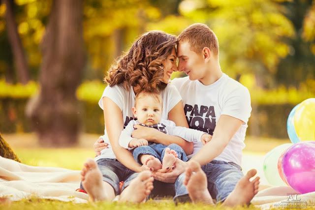 профессиональная фотосессия семьи