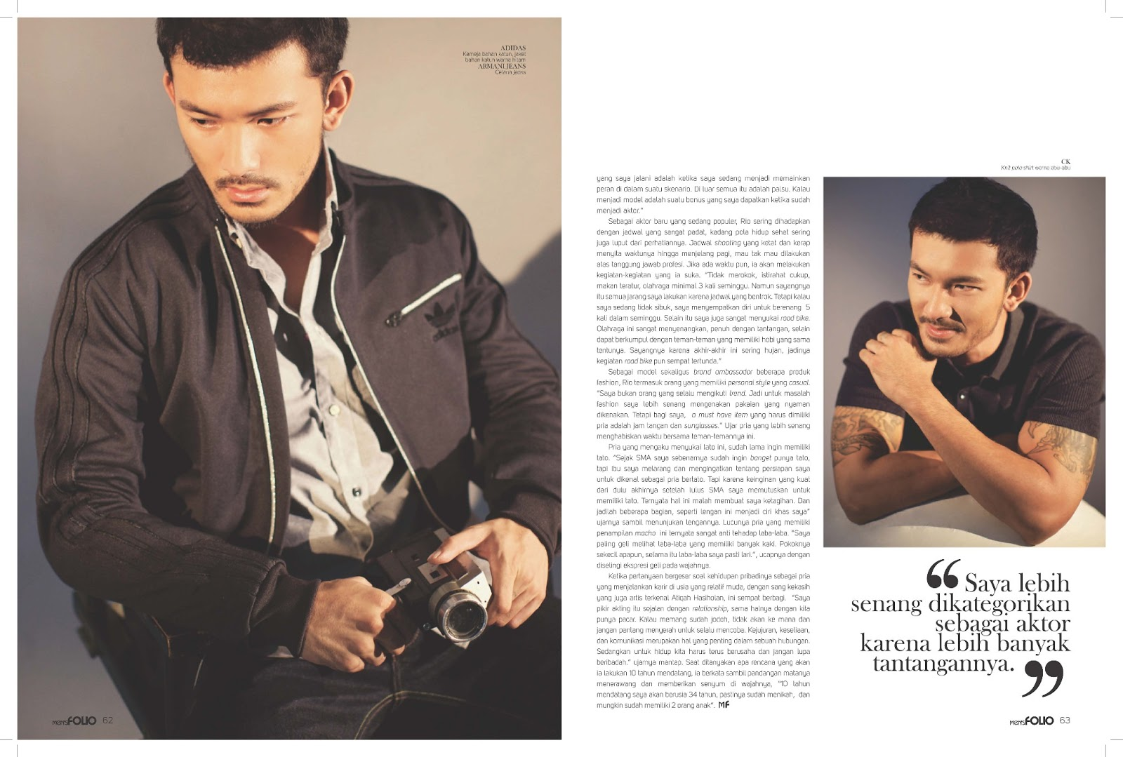RION DEWANTO BY HERDIANA SURACHMAN, MEN'S FOLIO INDONESIA INTERVIEW