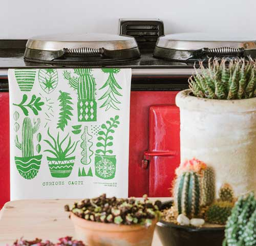 cactus tea towel buy here