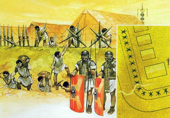 roma militaria, Roma, legion, campamento romano