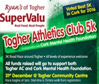 Togher 5k in Cork City...Sun 31st Dec 2017