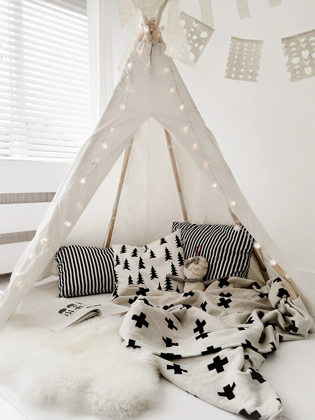tipi cabaña india tendencia decoración infantil