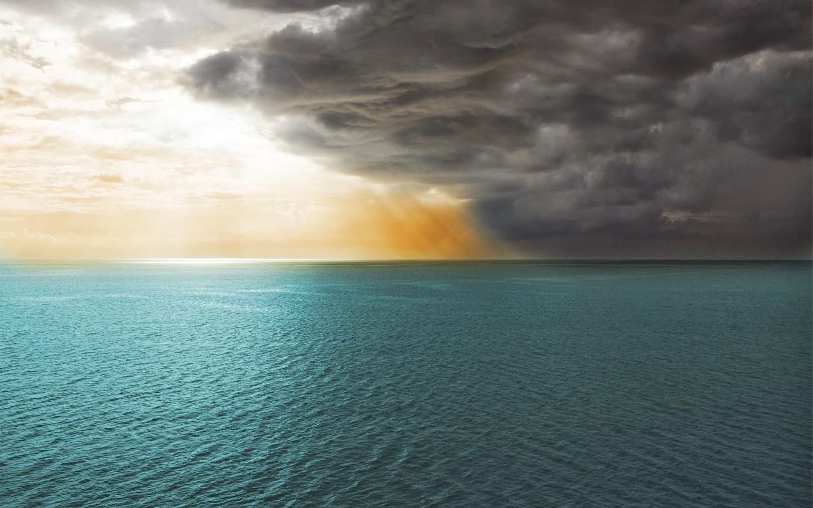 tempesta, futuro incerto, oceano