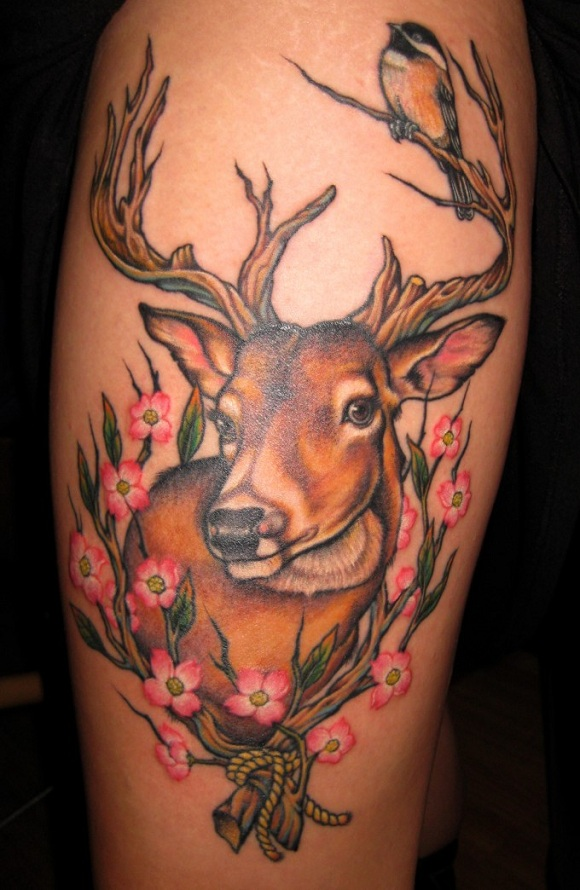 Tattoosday pino bros boston ma they call me fearsy for Whitetail deer tattoos