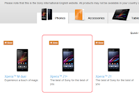 Sony Xperia Z1s website spotting