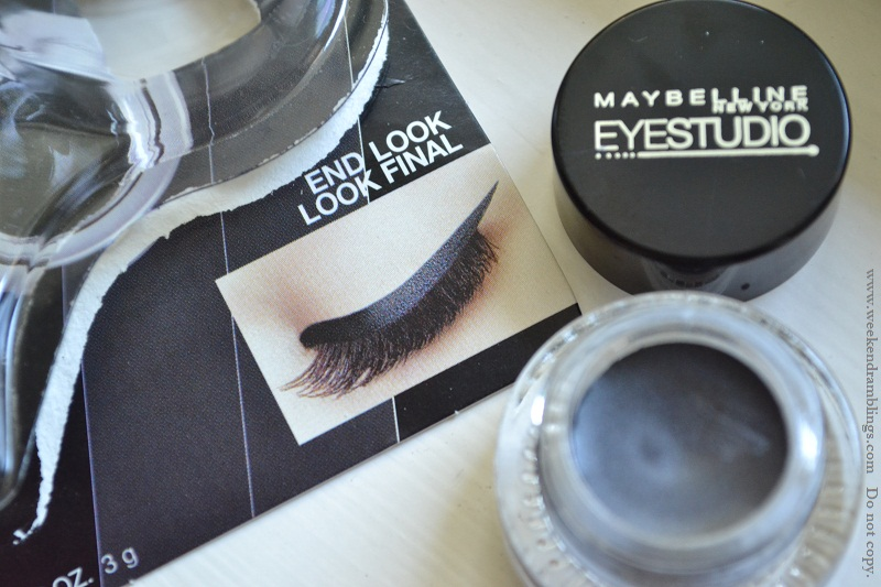 maybelline eyestudio gel eyeliner review swatch eotd charcoal carbon