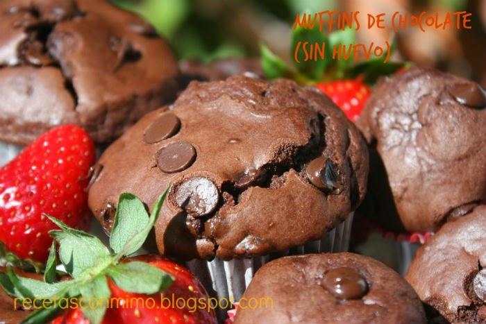 Foto de un muffin en primer plano