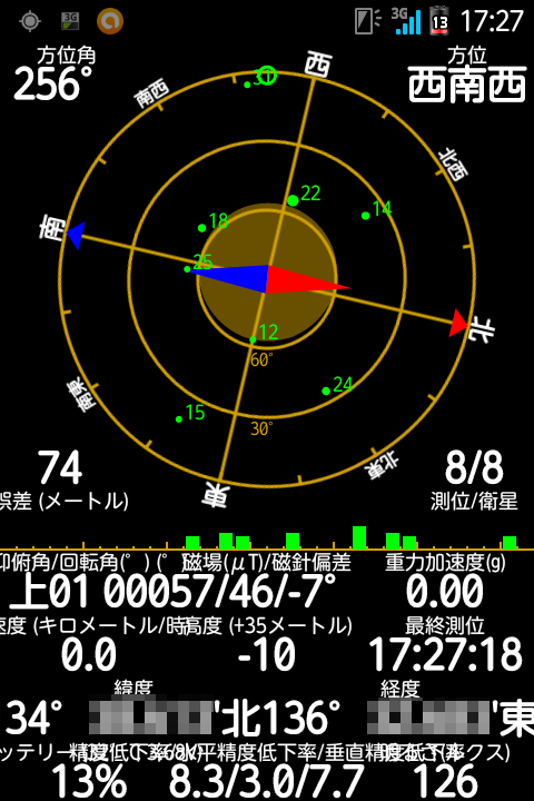 GPS Status&ToolboxでGPS精度アップ
