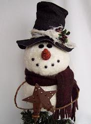 Snowman Tree Topper ePattern