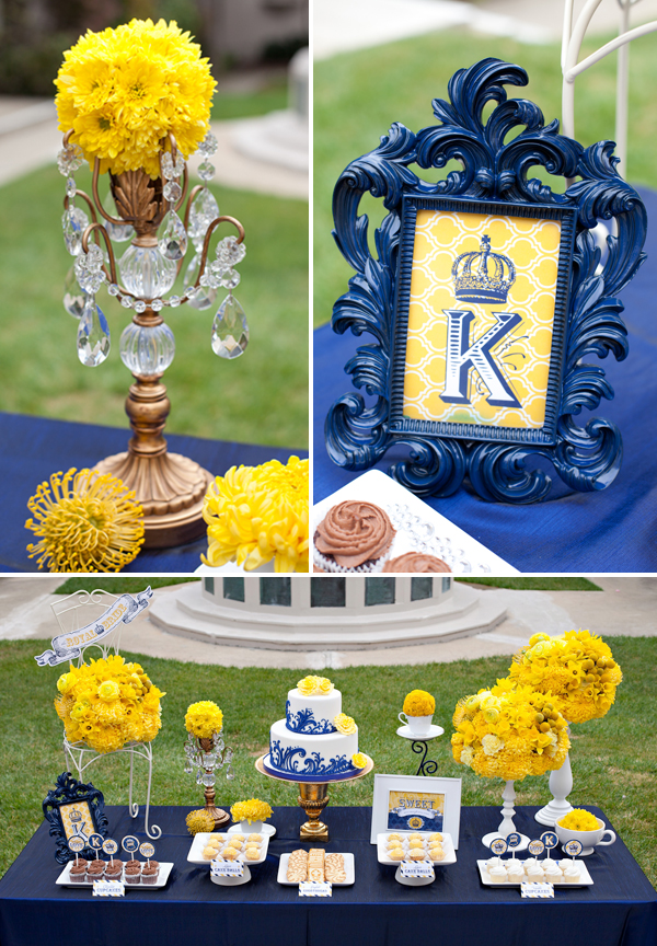 Amberlys blog to add to this color palette we 39re also royal wedding bridal shower yellow and blue wedding inspiration junglespirit Images