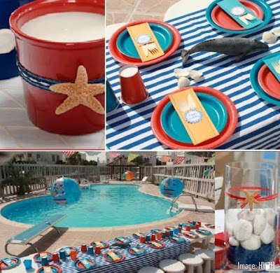 Labor day weekend is the time for enjoy the hot summer a pool party theme & Party theme ideas for labor day | Best Holiday Pictures