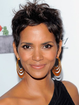 Halle Berry Gold Hoop Earrings