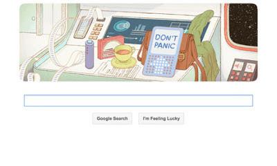 Douglas Adams Google Doodle