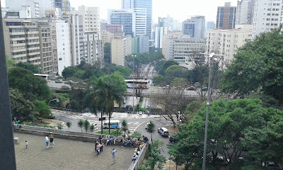 São Paulo vista do 2º piso do MASP