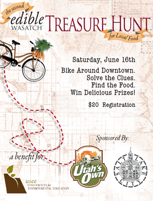 family, jump on your bikes, and head out on an edible treasure hunt ...