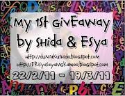 My 1st Giveaway by Shida dan Esya