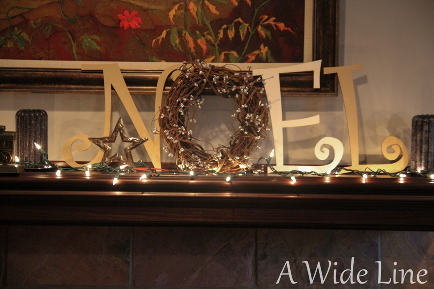 Silver Letters Home Decor