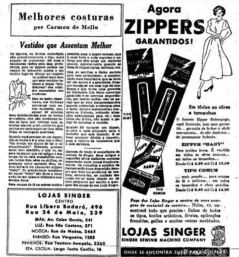 Propaganda de 1949 sobre a invenção do zíper