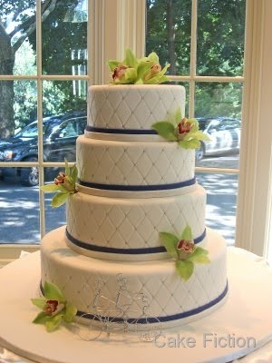Green Cymbidium Orchids Wedding Cake to show how we go about the design