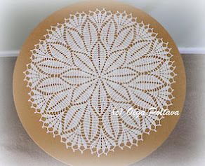 Spring Leaves Doily Pattern, $3.99