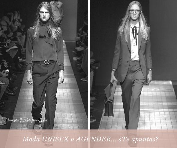 moda agender  unisex tendencias