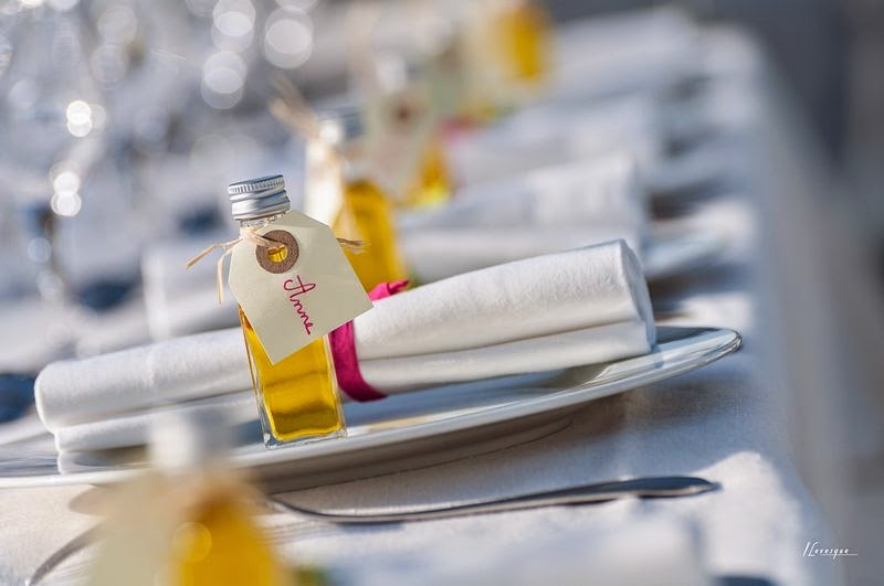 idée décoration de table huile d'olive