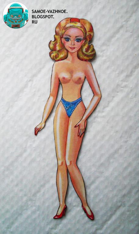 Бумажная кукла Барби девяностые 1990 90е 199 перестройка