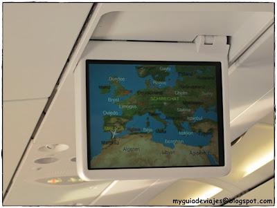 pantalla avión