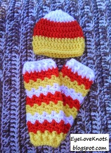 EyeLoveKnots: Crochet Preemie Candy Corn Hat - FREE ...