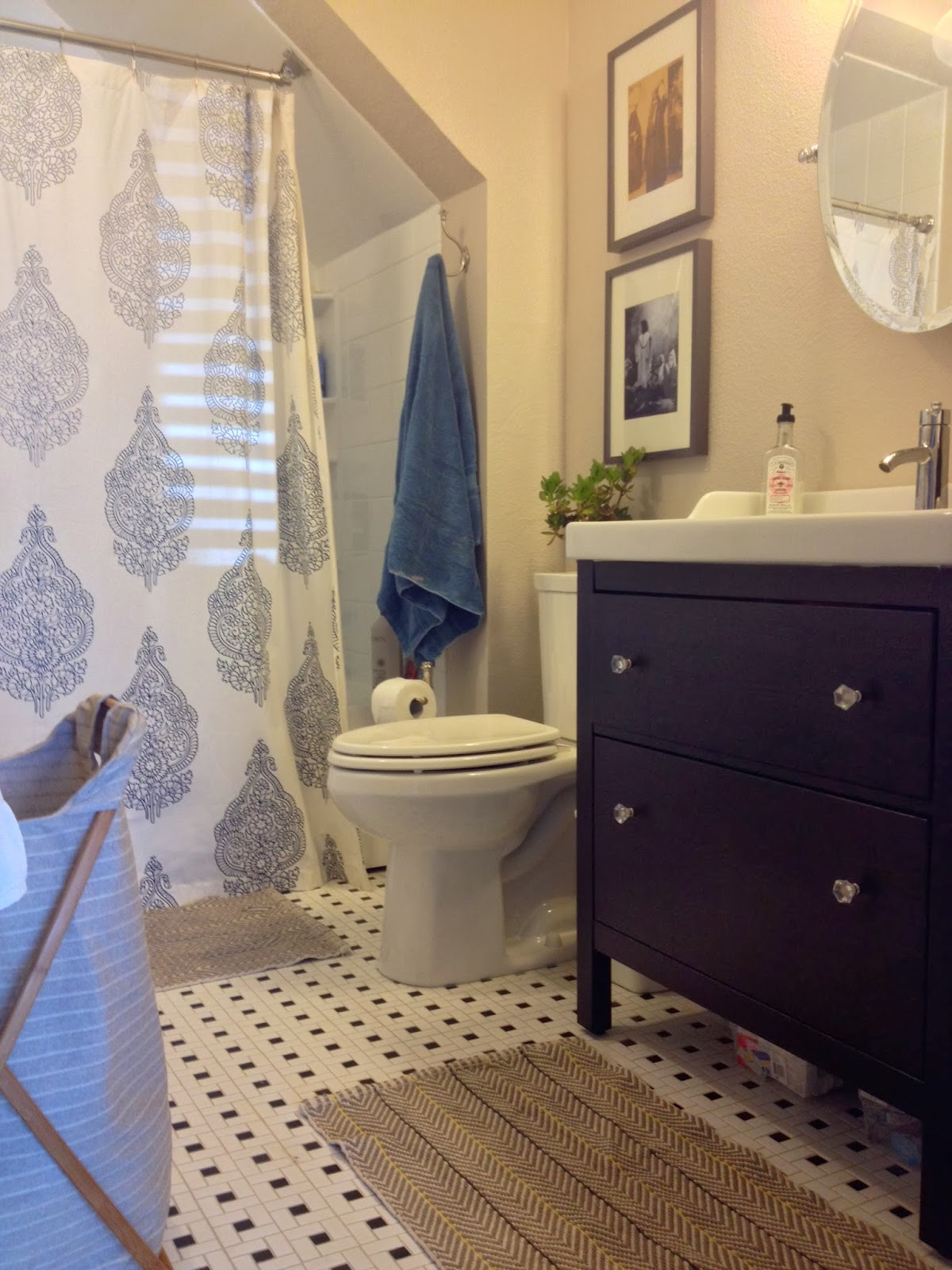 Copy Cat Chic: Copy Cat Chic Room Redo | Contemporary Bathroom ...