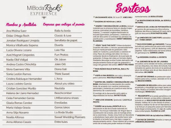 Ganadores de Mi Boda Rocks Experience Barcelona
