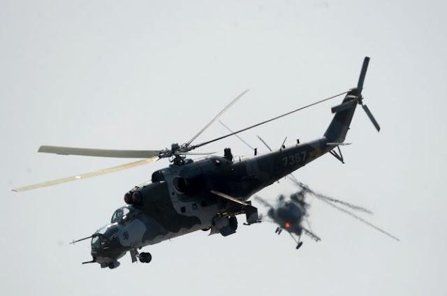 Helikopter Mi-24 Rusia Unjuk Gigi di Suriah