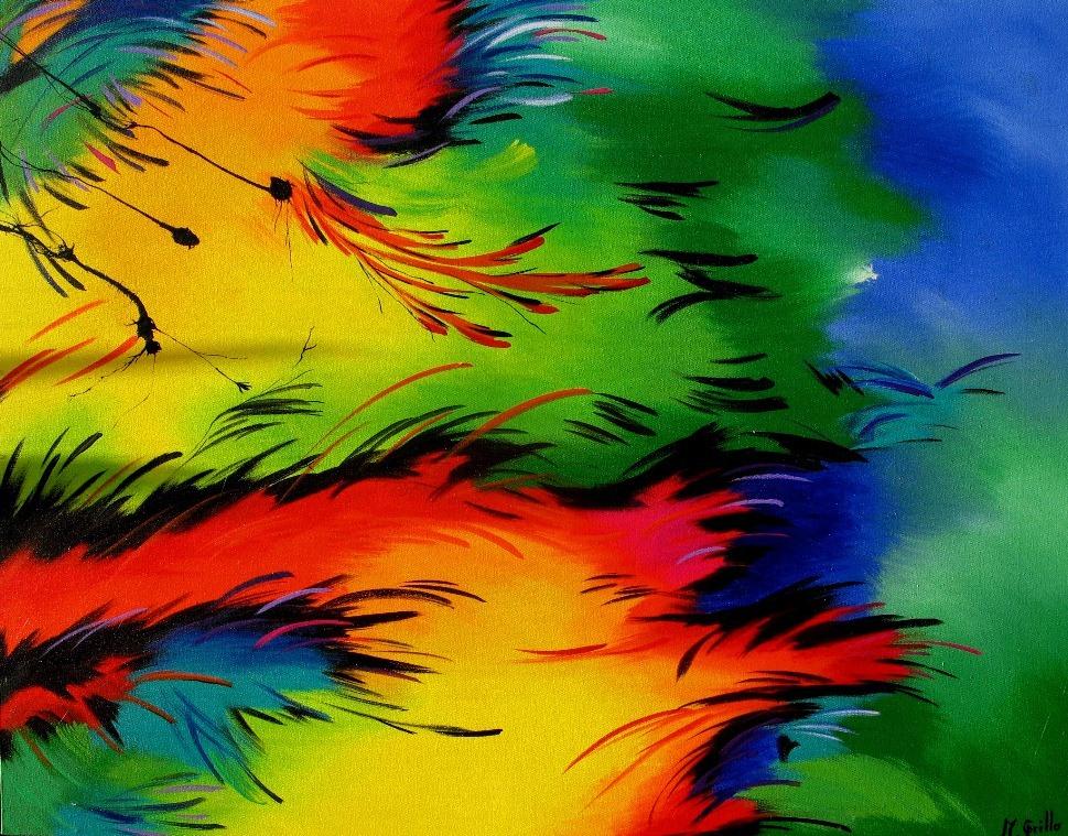 Arte abstracto diciembre 2012 - Cuadros modernos con mucho color ...