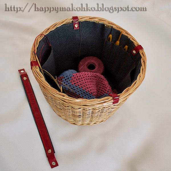 корзина из лозы для рукоделия