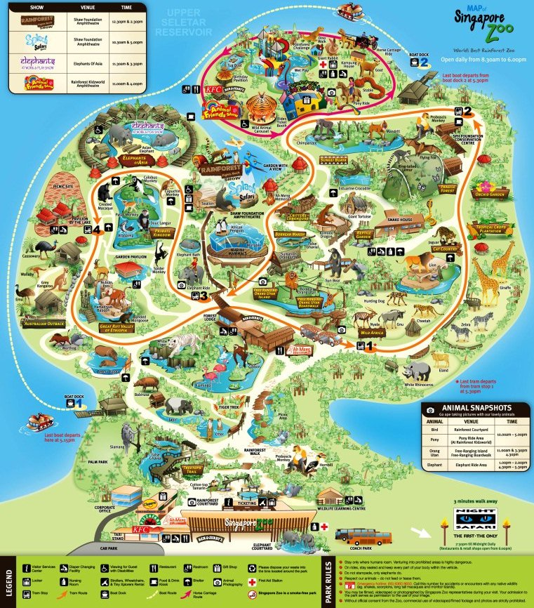 Zoo Map Template Singapore Zoo Map