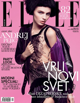 Andrej Pejic en la portada de Elle