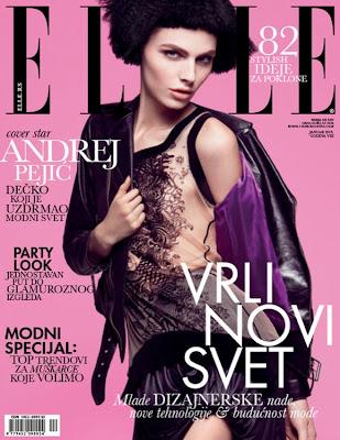 Andrej Pejic en la portada de Elle