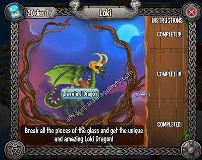 imagen de la batalla contra el dragon loki