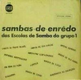 foto da capa do cd sambas de enredo 1972 grupo especial carnaval do Rio de Janeiro