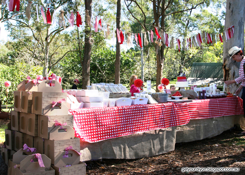 Get your d i y on diy picnic basket out of an ikea for Gingham decorating ideas