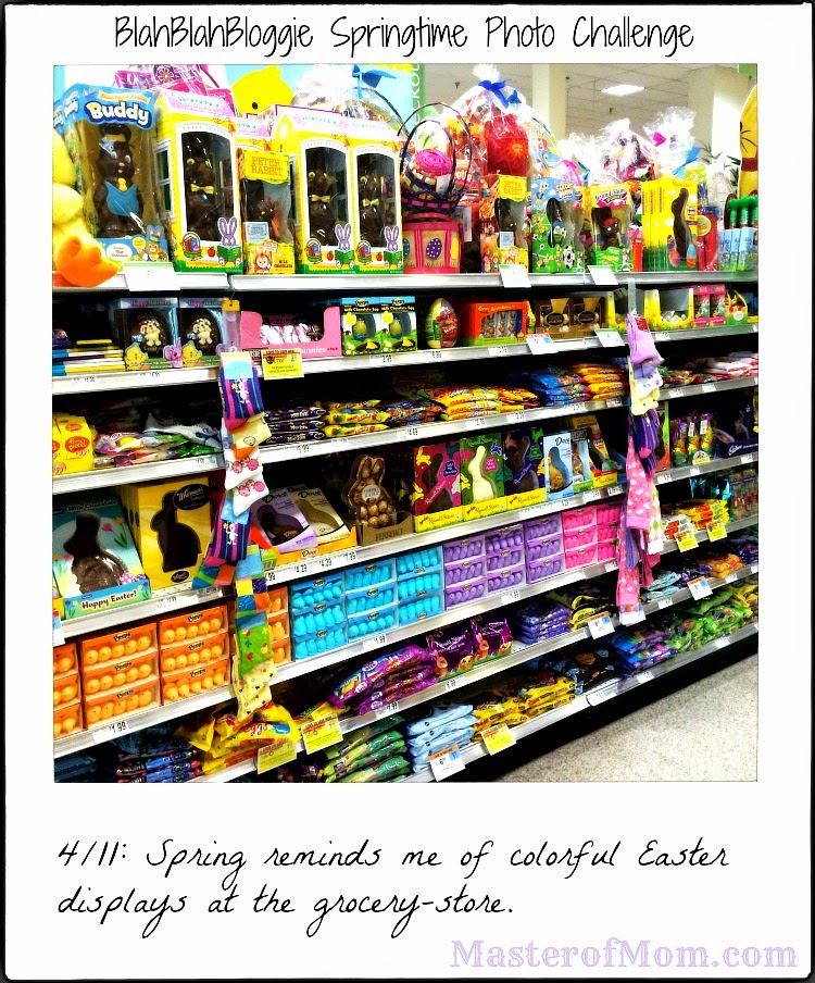 Colorful Easter Display at the Grocery Store