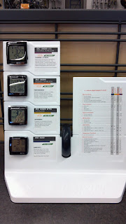 bicycle computer demo display at a bike store