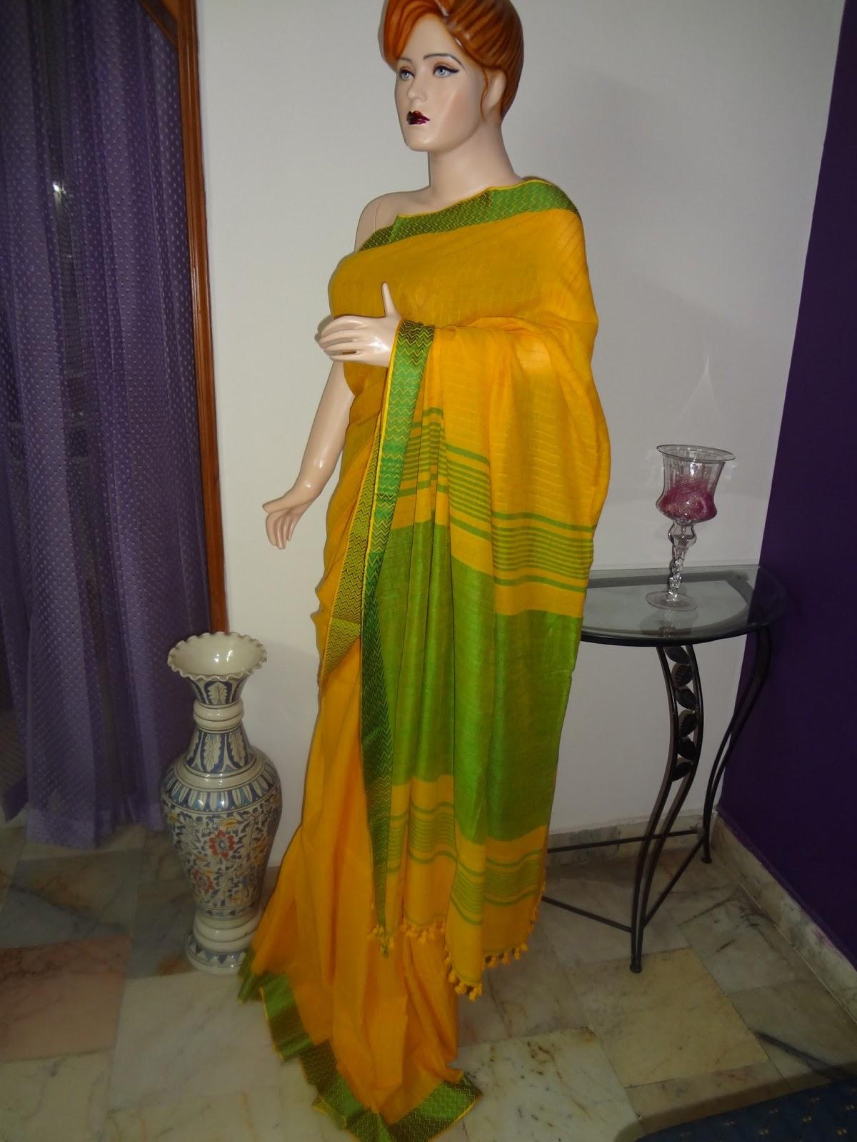 Cotton Matka Silk Saree