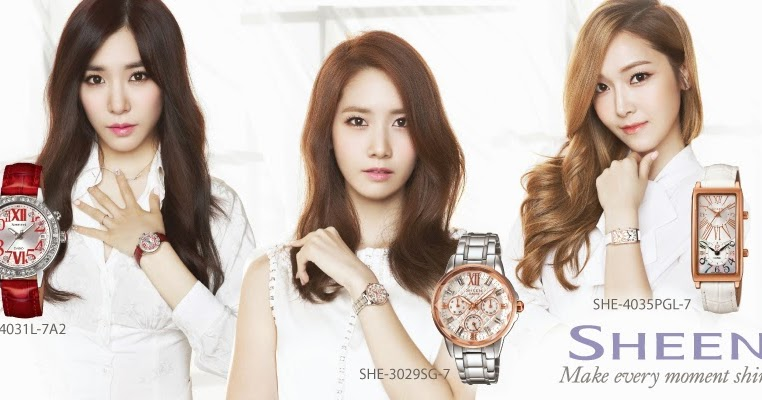 [Picture] 131224 SNSD Tiffany, Yoona and Jessica for Casio 'SHEEN' Promotion