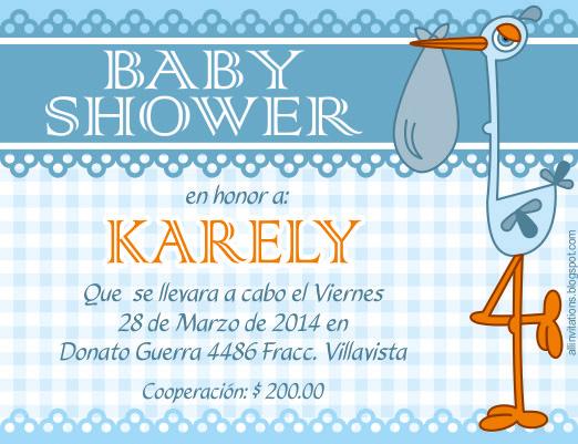 Invitación Baby Shower - Cigueña   All Invitations