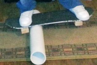 Bikin Sendiri BALANCING BOARD dari bekas skateboard dan pipa pvc