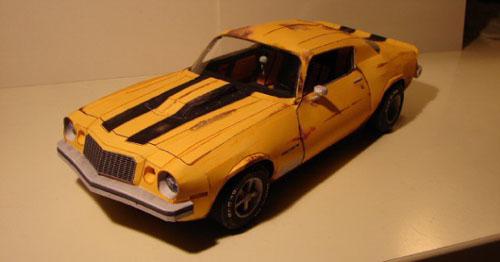 Camaro 1976 papertoy, Publicitário13