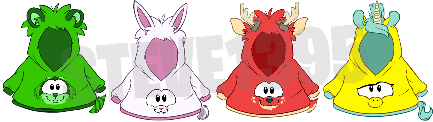 Club Penguin Upcoming Unreleased Puffle Party 2015 Items: Puffle Hoodies